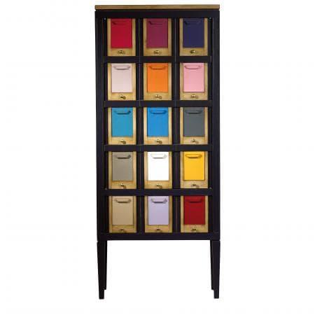 commode haute 5 tiroirs ou chiffonnier les coloristes labarere meubles duquesnoy frelinghien nord lille