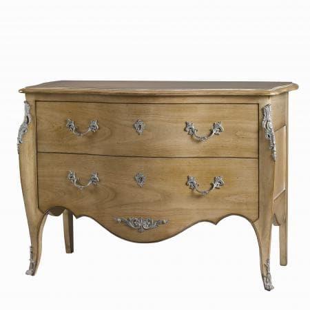 commode 2 tiroirs montespan merisier clair style louis XV meubles duquesnoy frelinghien nord lille