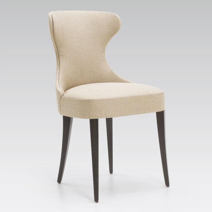 Chaise contemporaine de qualite garnie tissu gondole meubles duquesnoy frelinghien nord lille
