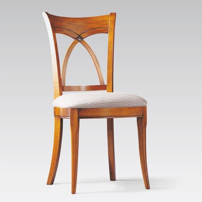 Chaise de style garnie tissu tango collinet merisier garnie tissu meubles duquesnoy frelinghien nord lille