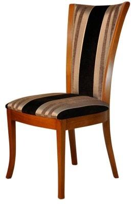 Chaise de style lou garnie tissu gun metal paget meubels duquesnoy frelinghien nord lille