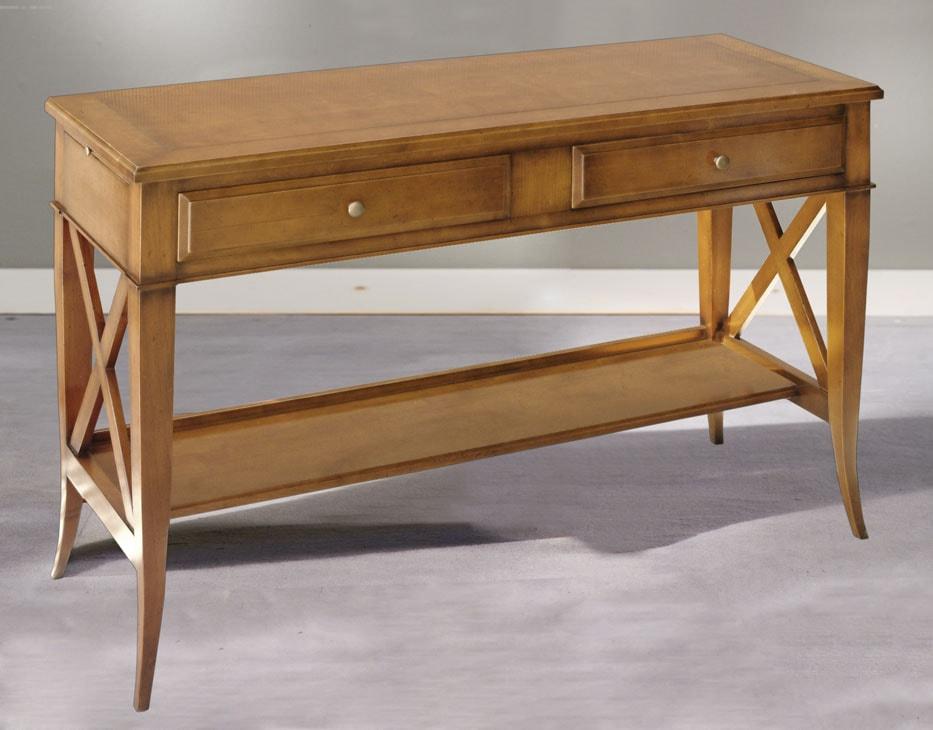 console merisier ou chene 2 tiroirs meubels duquesnoy frelinghien nord lille
