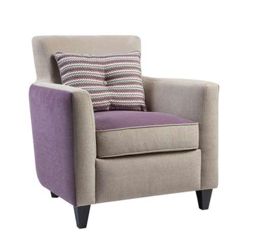 Fauteuil Clair de lune tissu bi-ton fabrication francaise meubles duquesnoy lille