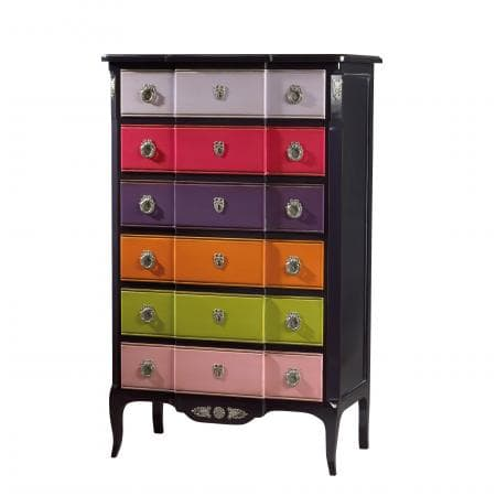 meubles a tiroirs chiffonnier labarere 6 tiroirs multicouleurs style transition meubles duquesnoy frelinghien nord lille