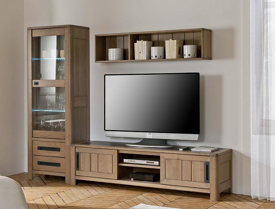 composition tv deauville en chene massif fabrication francaise ateliers de langres meubles duquesnoy nord