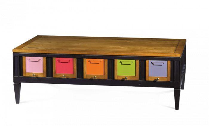 Table basse les coloristes labarere fabricant francais meubels duquesnoy lille