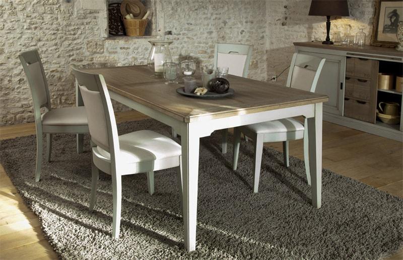 table de repas rectangulaire en chene couture fabrication francaise meubles duquesnoy frelinghien nord lille