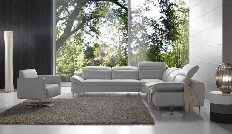 salon d'angle pedro fabrication italienne de qualite en cuir blanc meubels duquesnoy frelinghien