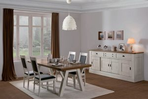 salle a manger romance en chene naturel meubles duquesnoy frelinghien lille nord