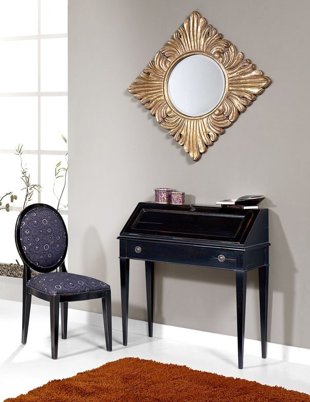 petit bureau dos d'ane laque noire style directoire meubles duquesnoy frelinghien lille nord