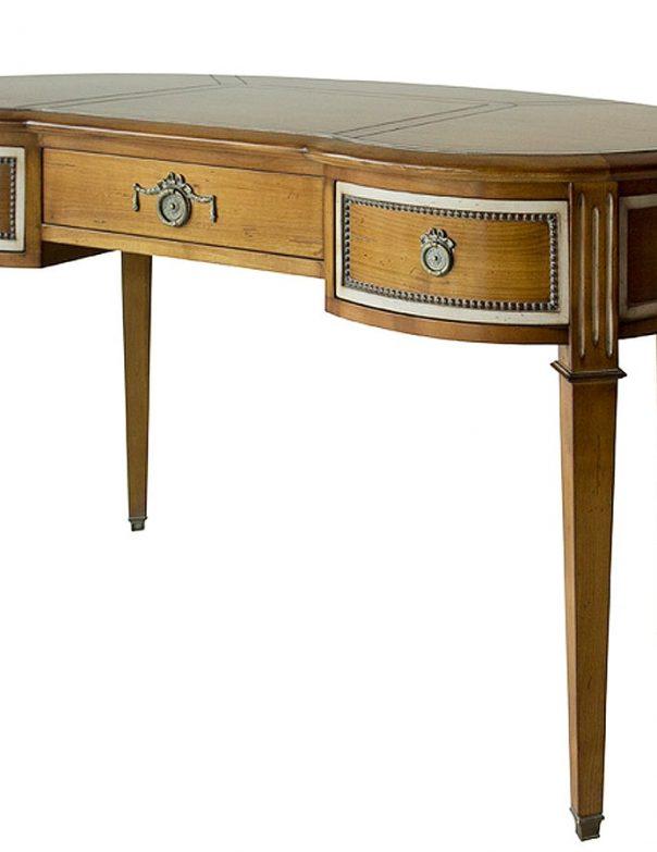 petit bureau rognon de style en merisier meubles duquesnoy lille nord