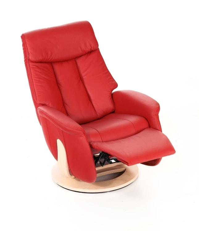 fauteuil relax pivotant slogen sitbest en cuir rouge meubels duquesnoy frelinghien nord pas de calais