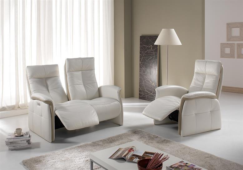 salon parsifal bardi relaxation en cuir blanc et gris fabrication italienne haut de gamme meubles duquesnoy frelinghien