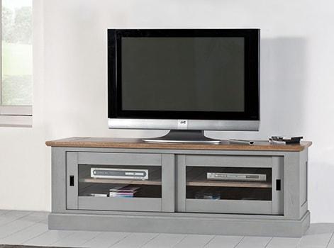 meubel tv romance en chene massif blanchi dessus naturel fabrication francaise ateliers de langres meubles duquesnoy frelinghien