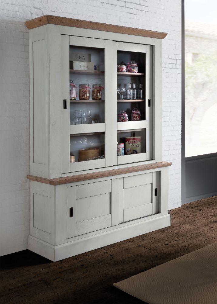 vaisselier salle a manger romance en chene massif de france ateliers de langres chez meubles duquesnoy frelinghien nord