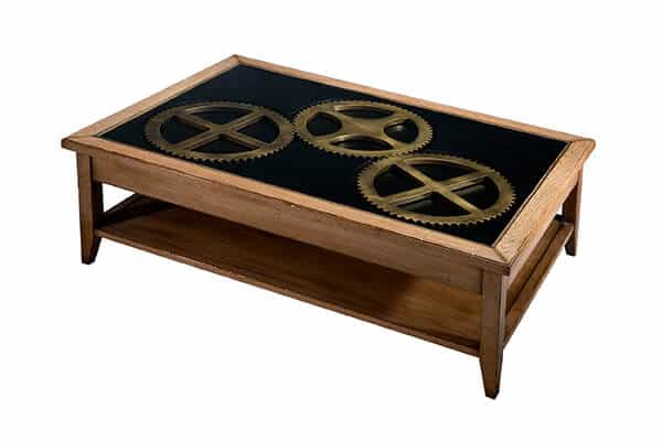 table basse horloger en chene massif fabrication francaise meubles duquesnoy frelinghien nord lille
