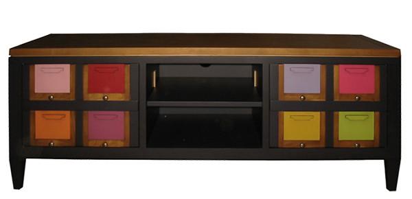 meuble TV bois les coloristes fabrication francaise meubles duquesnoy frelinghien nord lille