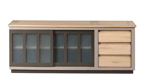 meuble TV bois chene massif fabrication francaise meubles duquesnoy frelinghien nord lille