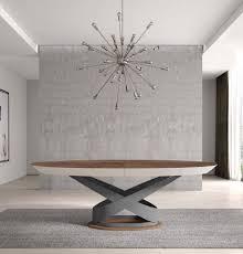 table ovale varzzy evanyrouse dessus accajou pietement metal meubles duquesnoy frelinghien lille nord