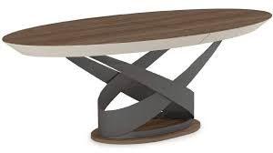 table ovale varzzy evanyrouse plateau bois pietement metal meubles duquesnoy frelinghien nord