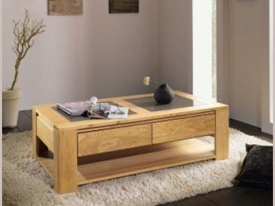 table basse en chene massif arlequin ateliers de langres meubles duquesnoy frelinghien lille nord armentieres