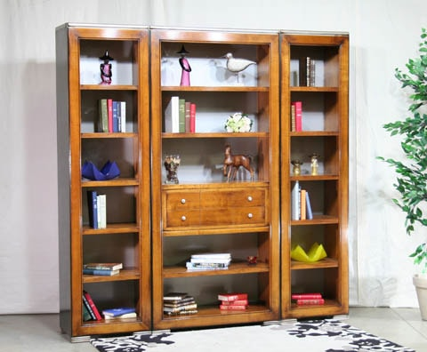 bibliotheque composable merisier meubles duquesnoy frelinghien nord lille