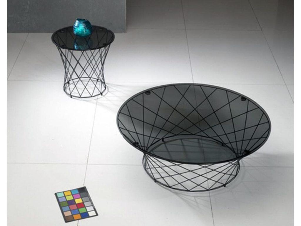 table basse flow dessus verre pietement metallique meubles duquesnoy frelinghien nord lille armentieres