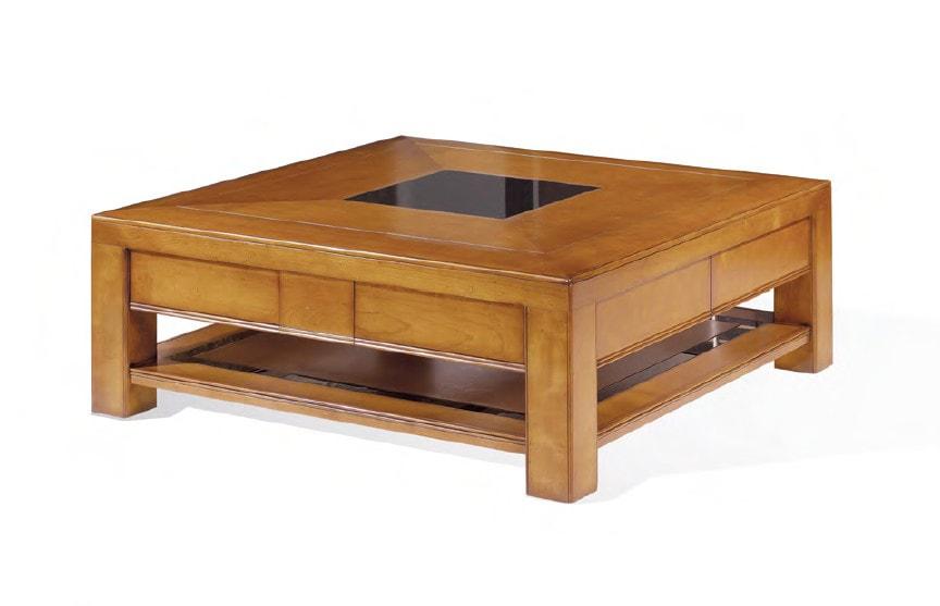 table base table de salon carrée merisier meubles duquesnoy frelinghien nord lille armentieres