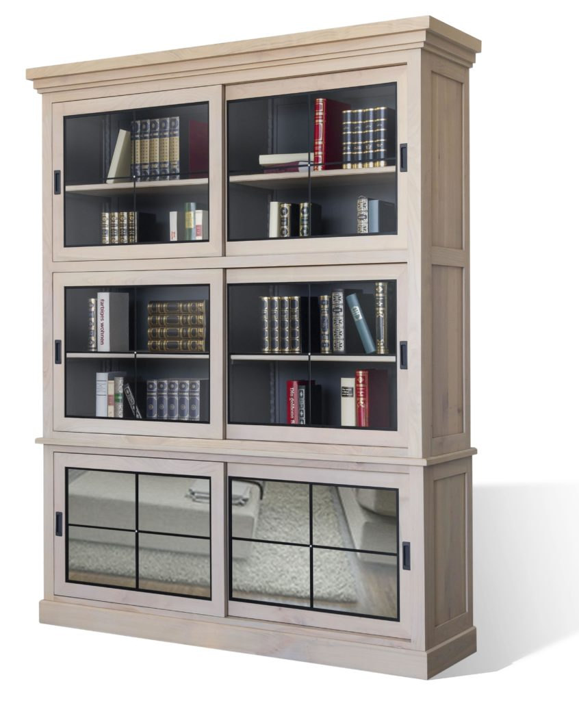 bibliotheque 6 portes coulissantes meubles duquesnoy frelinghien nord lille