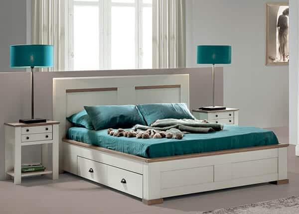 lit avec tiroirs romance ateliers de langres meubles duquesnoy frelinghien nord lille armentieres