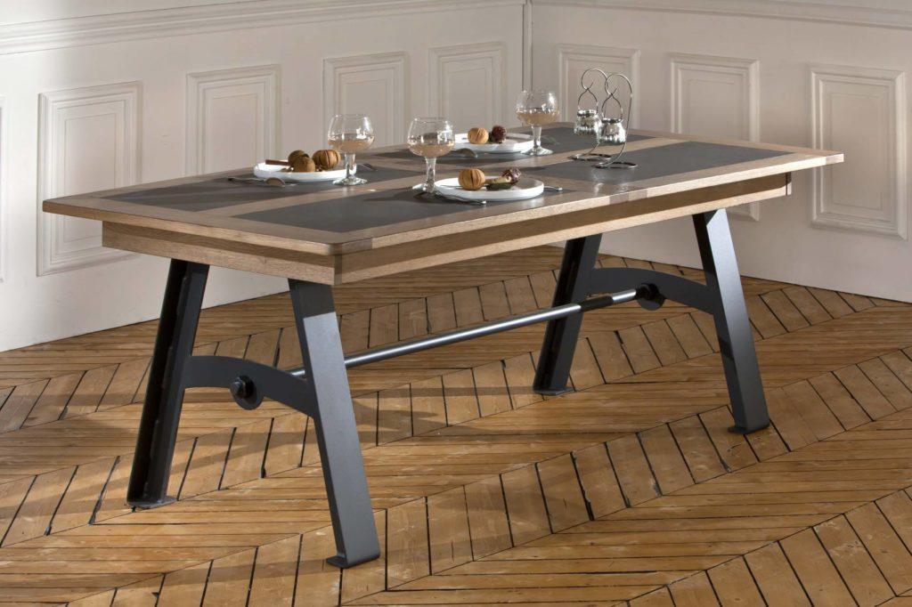 table deauvil ateliers de langres meubles duquesnoy frelinghien nord lille armentieres