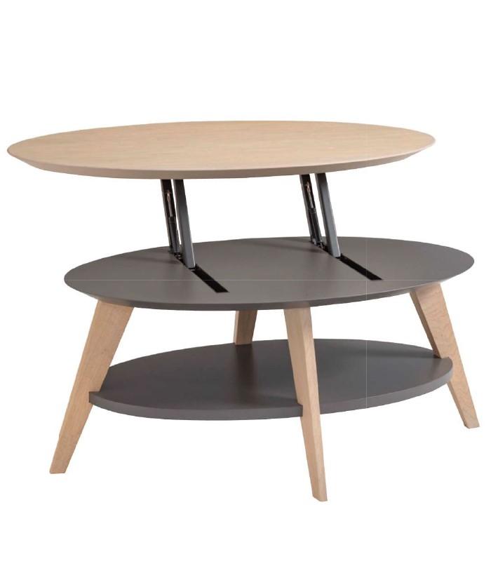 Table Basse dinette relevable Idoine meubles duquesnoy frelinghien nord lille armentieres