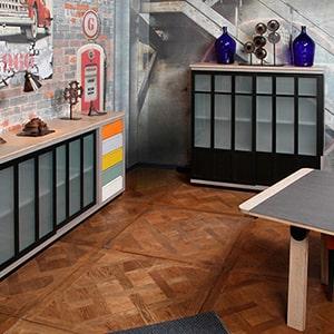 Salle à manger SYMBIOSE de Michel Ferrand chez Meubles DUQUESNOY frelinghien nord lille armentieres