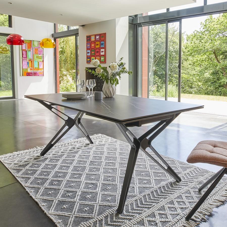 table rectangulaire contemporaine céramique Nova couture meubles duquesnoy frelinghien nord lille armentieres