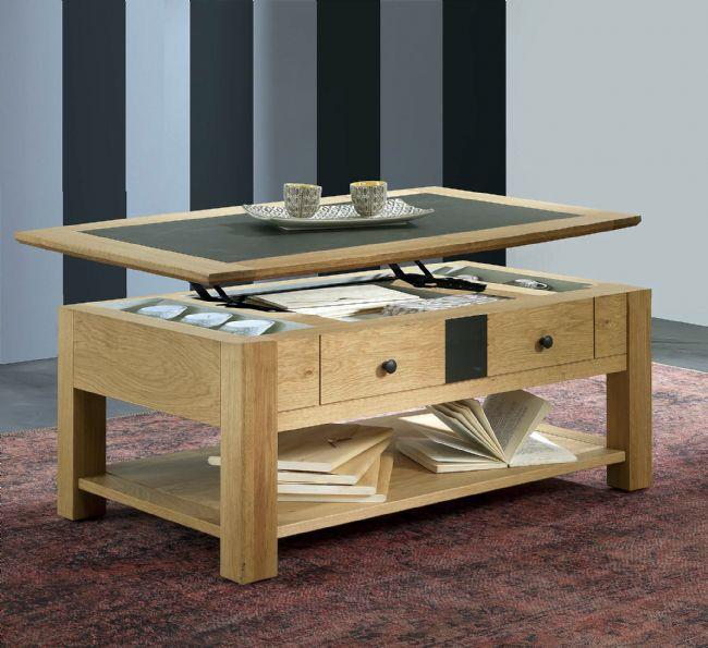 Table basse dinette relevable belem fabrication francaiise ateliers de langres meubles duquesnoy frelinghien nord lille armentieres
