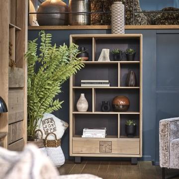 bibliothequeEDEN chene massif ateliers de langres meubles duquesnoy frelinghien nord lille armentieres