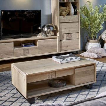 Table basse EDEN chene massif ateliers de langres meubles duquesnoy frelinghien nord lille armentieres