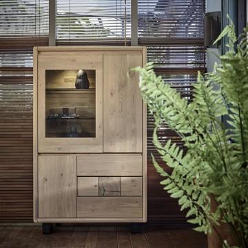 vitrine EDEN chene massif ateliers de langres meubles duquesnoy frelinghien nord lille armentieres