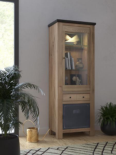 bibliotheque-industrielle-bois-metal-madison Couture Meubles DUQUESNOY Frelinghien Nord Lille Armentieres