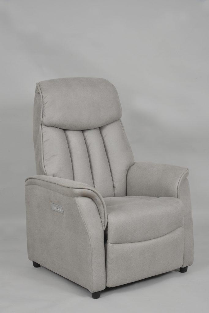 Fauteuil Cliffden 2 moteurs releveur en tissu ou en cuir meubles duquesnoy frelinghien nord lille armentieres