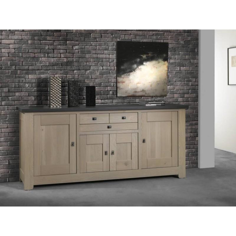 salle a manger whitney meuble buffet whitney en chene massif teinte naturel dessus ardoise fabrication francaise ateliers de langres meubles duquesnoy frelinghien