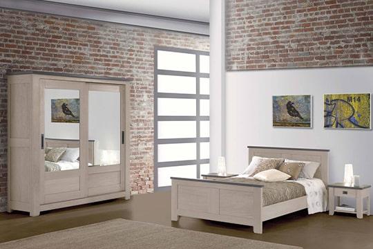 chambre Whitney en chene massif ateliers de langres meubles duquesnoy frelinghien nord
