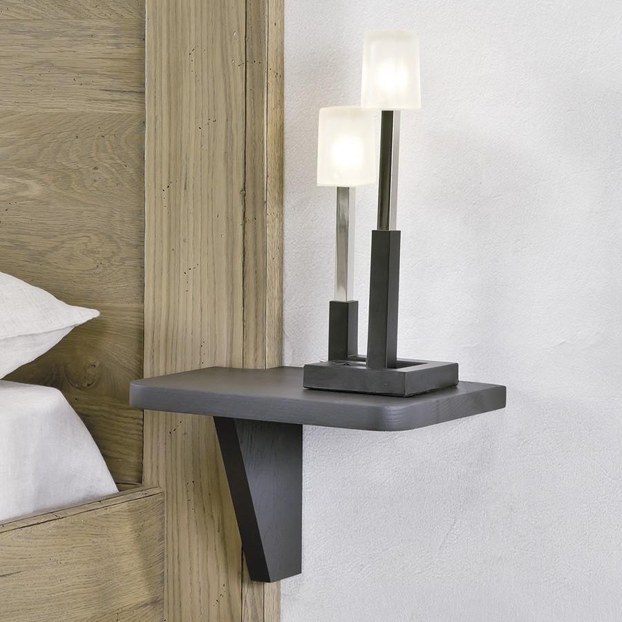 chambre romance chevet tablette en chene massif ateliers de langres meubles duquesnoy frelinghien nord