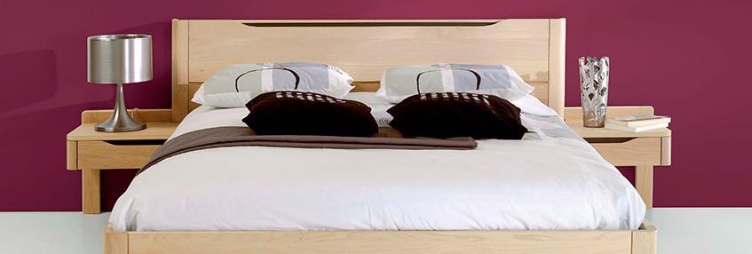 Chambre lit lilou en chene ateliers de langres meubles duquesnoy frelinghien nord lille