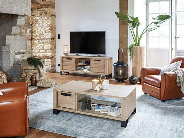 Table basse hudson meuble salon hudson meubles duquesnoy frelinghien nord lille armentieres