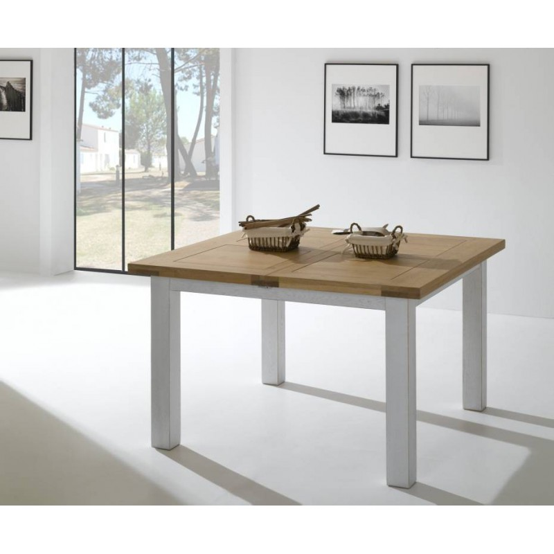salle a manger whitney table carrée whitney en chene massif teinte naturel dessus ardoise fabrication francaise ateliers de langres meubles duquesnoy frelinghien