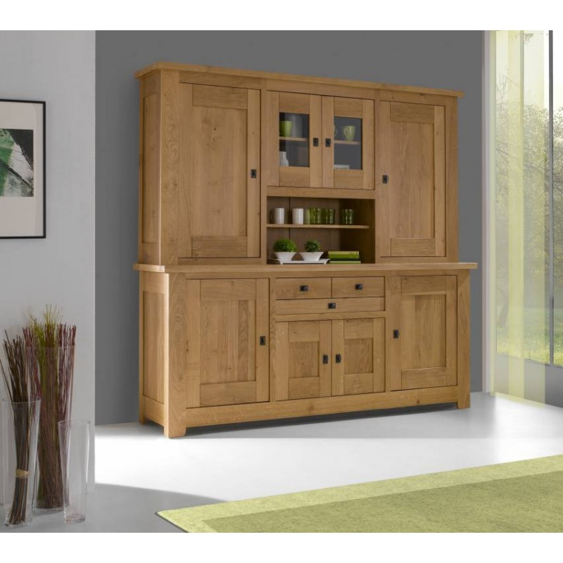 salle a manger whitney meuble vaisselier whitney en chene massif teinte naturel dessus ardoise fabrication francaise ateliers de langres meubles duquesnoy frelinghien