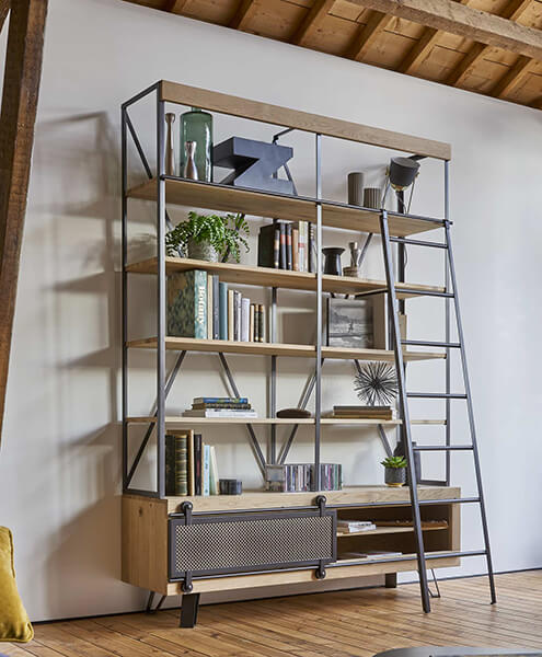 bibliothèque industrielle Fusion Couture meubles duquesnoy frelinghien nord lille armentieres