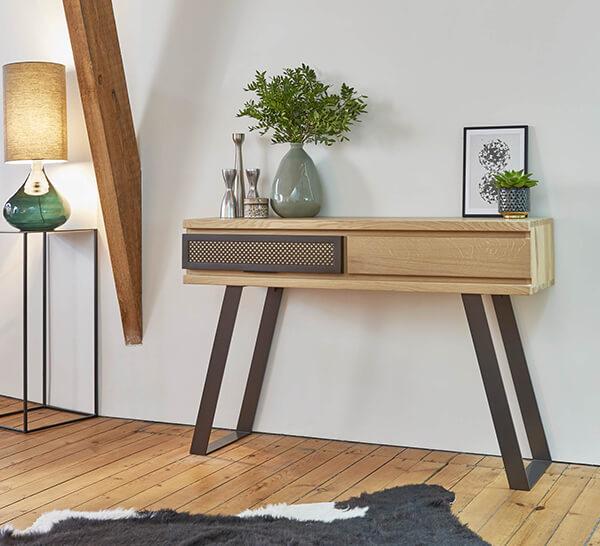 console industrielle Fusion Couture meubles duquesnoy frelinghien nord lille armentieres