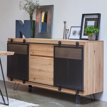 Enfilade 3 portes Fusion Couture meubles duquesnoy frelinghien nord lille armentieres